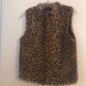 Copper Key Leopard print vest